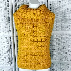 Vintage Wool Bauble Cowl Neck Sweater